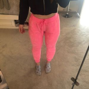 Extremely soft pink joggers